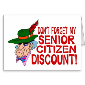 Senior Citizen Greeting Card