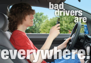 Don't put your life in the hands of incompetant drivers!