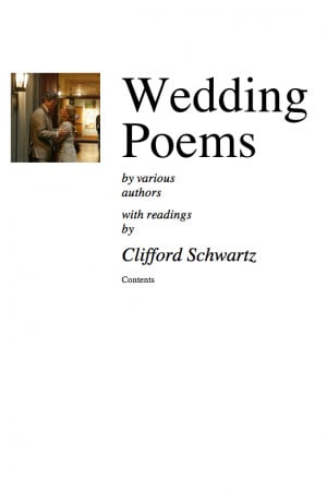 Famous Wedding Poems Cover of wedding poems