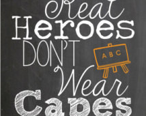 personalized Teacher appreciation q uote, chalkboard style ...