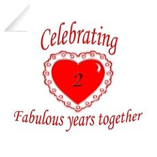 2Nd Wedding Anniversary Wall Decals | 2Nd Wedding Anniversary Wall ...