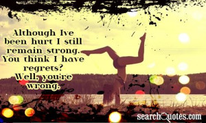 Although I've been hurt I Still remain Strong ~ Anniversary Quote