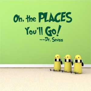 Oh the Places You'll Go Dr Seuss Quote Wall Decal by MundodeSofia, $25 ...