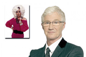 Paul O'Grady and, inset, his alter ego Lily Savage