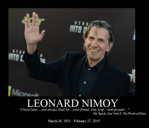 Leonard Nimoy memorial by JeremyX2000