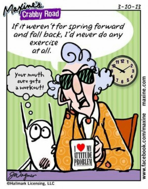 Maxine on Daylight Saving Time
