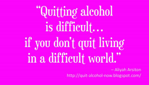 Why it is DIFFICULT to Quit Drinking Alcohol