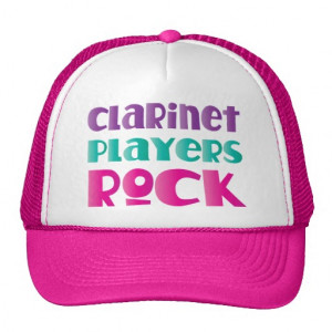 brightly coloured clarinet music quote says clarinet players rock in ...