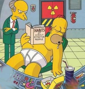 Les Simpson : Homer Simpson en plein effort