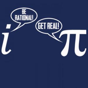 Be Rational Get Real T-Shirt Funny Pi Geek Math Nerd Mathlete Joke Tee ...
