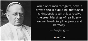 When once men recognize, both in private and in public life, that ...