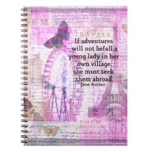 Jane Austen humorous snarky quote Spiral Notebooks