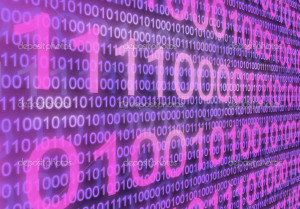 Binary Code And Puter Monitors