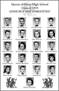 class reunion ideas | Poster From Yearbook Photos of Classmates who ...