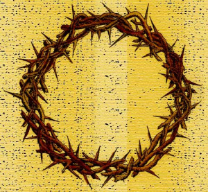 that they put a crown of thorns on jesus head