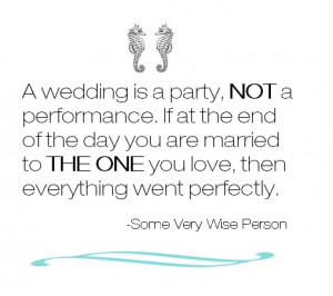 Words Every Bride Should Remember...