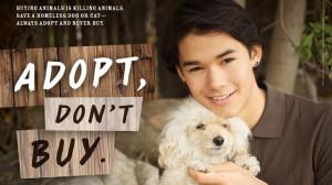 Booboo Stewart Stars in New 'Adopt, Don't Buy' PETA Ad