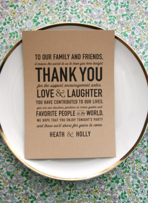 Wedding Acts of Kindness: #42 Include a thank you card at each guest ...