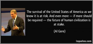 The survival of the United States of America as we know it is at risk ...