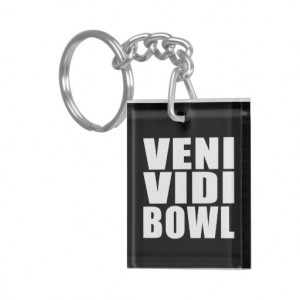 Funny Bowling Quotes Jokes : Veni Vidi Bowl Keychain