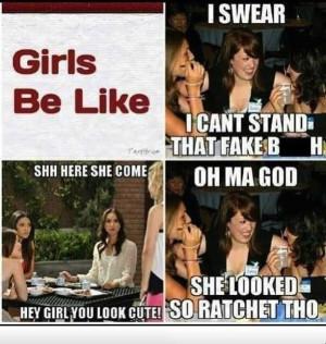 Girls be like...