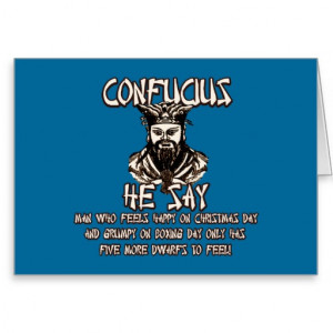 Funny Christmas Confucius Cards