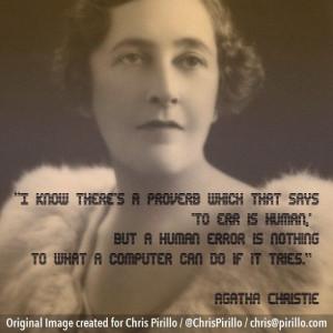 agatha christie quotes | Agatha Christie | Flickr - Photo Sharing!