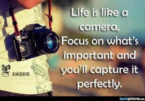 ... camera, focus on what's important and you'll capture it perfectly