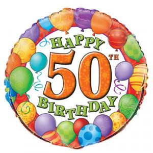 foil milestone birthdays happy 50th birthday foil balloon