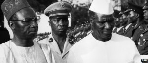 The post-independence leaders of The Gambia and Guinea, Sir Dawda ...