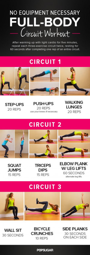 Printable Full-Body Circuit Workout — No Equipment Needed! I can do ...