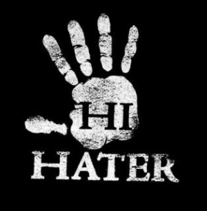 ... that everybody thinks they have a hater but what is a hater i looked