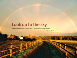 Look up to the sky! #Quote #Life