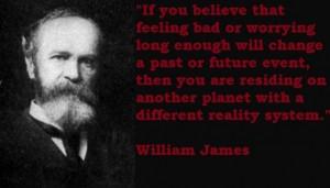 William James Attitude, William James Quotes,