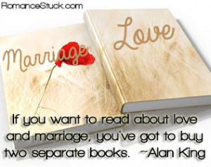 If you want to read about love and marriage, you've got to buy two ...