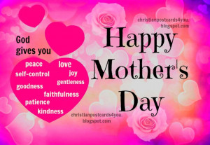 Mother's Day Christian Card. Free images for mother's day, Happy day ...