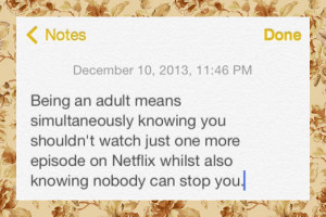 good thing about being an adult