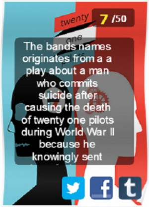 Joli Apps has released Twenty One Pilots Fact and Quotes App!