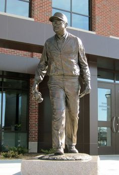 bo schembechler by j brett grill this iconic statue shows schembechler ...