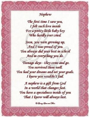 Love You Nephew Poems | Nephew poem is about a special nephew. Poem ...