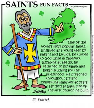 Saints Fun Facts for St. Patrick