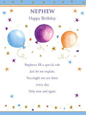 Nephew Birthday Poems Nephew happy birthday