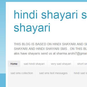 hindi shayari at Buzzerhut.com: Webs Largest Blog & Site Submission
