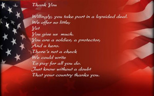 Free Veterans Day Thank You Poem For Kids 2014
