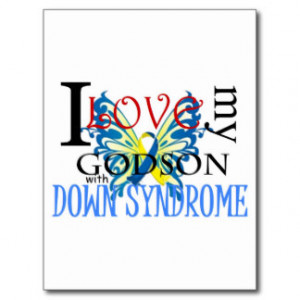 Love My Godson with Down Syndrome Post Card