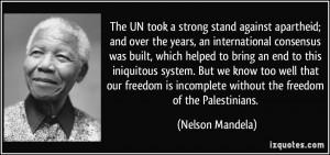 Nelson Mandela Against Apartheid Quotes