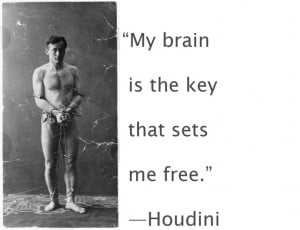 surrounded by people insisting he had super-natural powers, Houdini ...