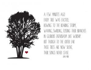 Inspiring John Muir Tree Print to Brighten Up your Walls