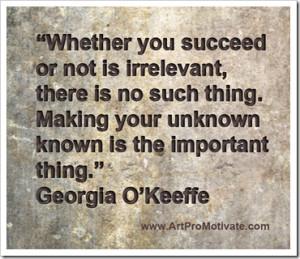 georgia o'keeffe artist quote www.artpromotivat... More