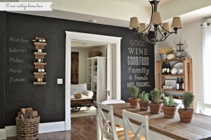 ve wanted to do a chalkboard wall in our home forever but as you ...
